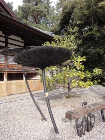 尾山神社のオブジェ