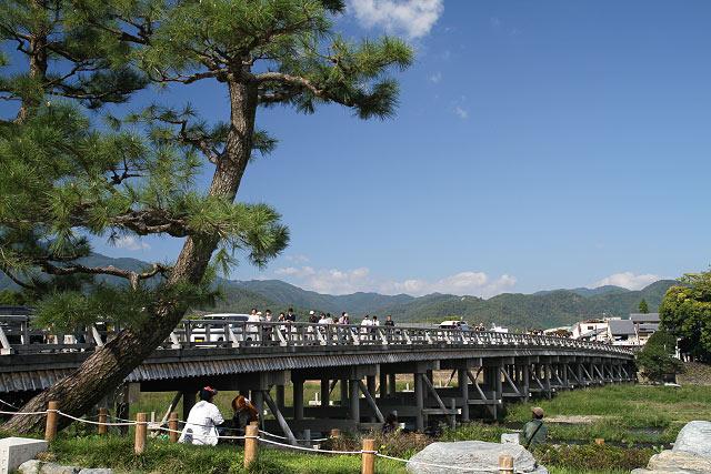 京都 嵐山 渡月橋 天龍寺