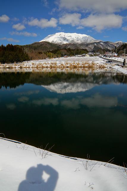 鳥取県日野郡江府町貝田付近より大山眺望