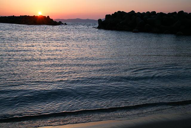 皆生海岸 夕日