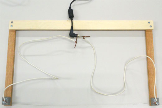 an electric heat cutter homemade with a nichrome wire 40 cm in length