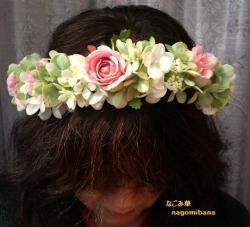 お花いっぱい花冠