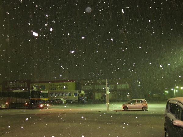 小さな隠れ里@大粒の雪
