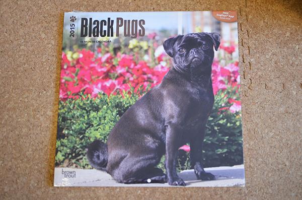 海外黒パグカレンダー