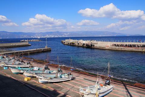 漁船のある港