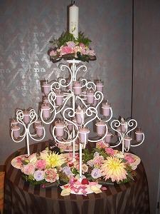 キャンドル台装花