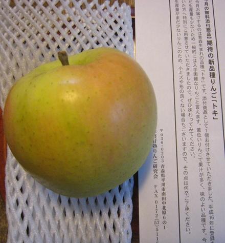 新品種りんご「トキ」