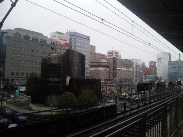 名古屋駅から見る光景