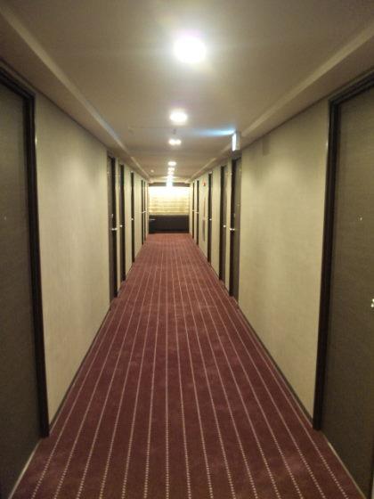 某ホテルの廊下の状況
