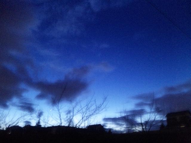 夕刻のランニングの風景