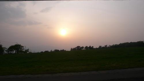 群馬県から眺める夕日…