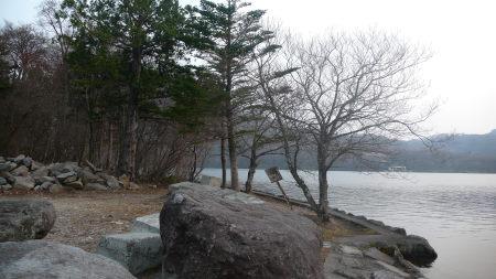 大沼湖付近の景色