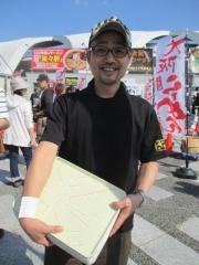 東京ラーメンショー2014 第1幕 ~彩色ラーメンきんせい「なにわの金の塩」~-5