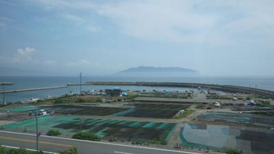 函館付近の車窓。
