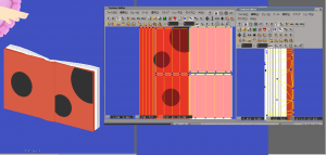 モデリングしてUV展開を予測して⇒テクスチャー描いてからUV展開でレイアウトから構想まで20分くらいの簡単なお仕事