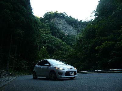 DE5FS・マツダスピードデミオスポルトと神戸岩