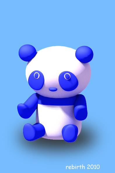 青いパンダ