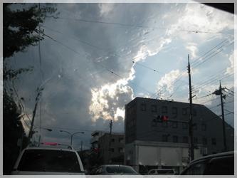 京都 雷雨やむ。