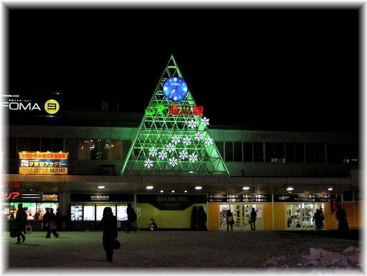 旭川駅イルミ