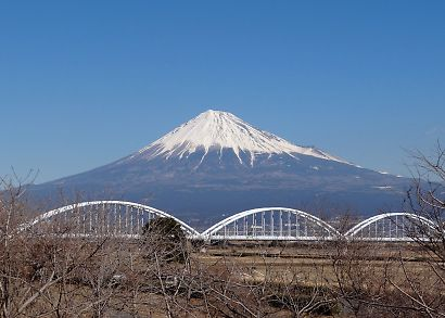 冬の美しい富士-2