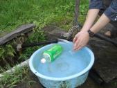 水は冷たい