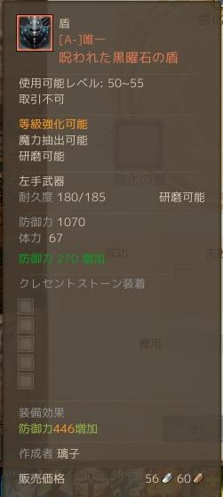 11月10日呪われた黒曜石の盾2