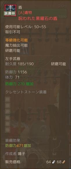 11月18日呪われた黒曜石の盾2