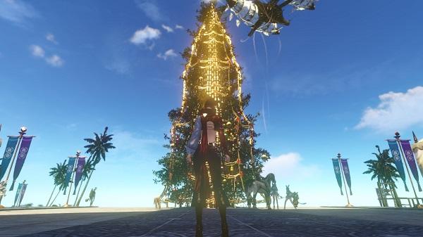 12月17日蜃気楼の島のクリスマスツリー