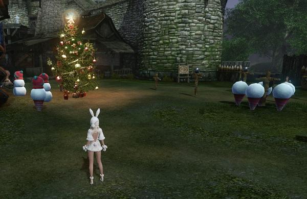 12月17日雪だるまとツリー