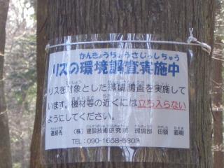 03リスの環境調査表示