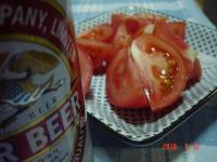 ビール・トマト