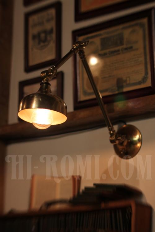 工業系 インダストリアル 真鍮 ブラケット ウォールランプ アンティーク 照明 ライト 角度調整 /関西・神戸 修理 リモデリング Hi-Romi.com ハイロミドットコム オーバーホール