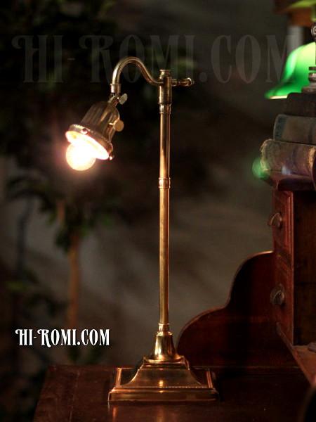 USAヴィンテージ角度調整付真鍮テーブルライト/神戸 ハイロミドットコム Hi-Romi.com 店舗設計 アンティーク照明 ランプ