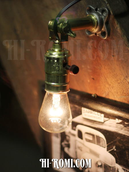 USAヴィンテージ工業系角度調整付壁掛ライトFアンティークアトリエ照明/神戸 ハイロミドットコム Hi-Romi.com 店舗設計 アンティーク照明 ランプ