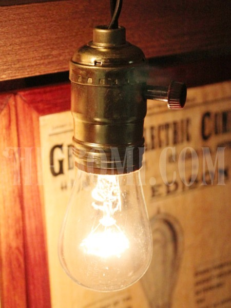 USAサークルFヴィンテージターン式アルミ製ソケットペンダントライトGoldアンティーク照明ランプ工業系/神戸 ハイロミドットコム Hi-Romi.com 店舗設計 アンティーク照明 ランプ