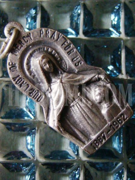 ヴィンテージ聖母マリアペンダントトップメダイ/アンティーク・キリスト・カトリック・メダル勲章コイン