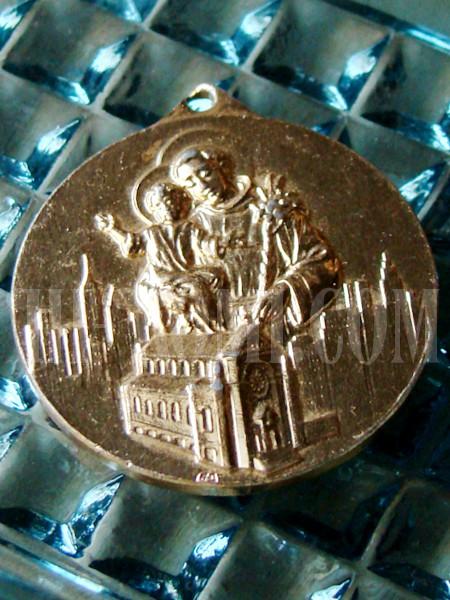 ヴィンテージカトリック聖アントニオメダイ/アンティークメダル勲章コイン