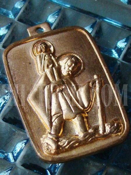 ヴィンテージ聖クリストフォロス(クリストファー)メダイ/アンティークメダル勲章コイン