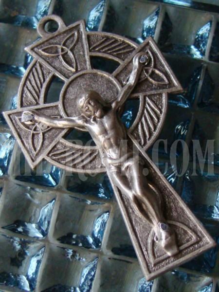 ヴィンテージケルト十字架(クロス)イエスキリスト/アンティークメダル勲章コイン