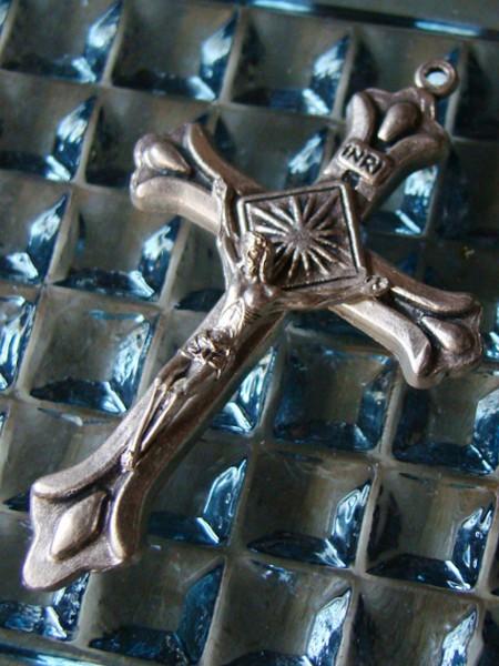 ヴィンテージバートシス十字架(クロス)イエスキリスト/アンティークメダル勲章コイン