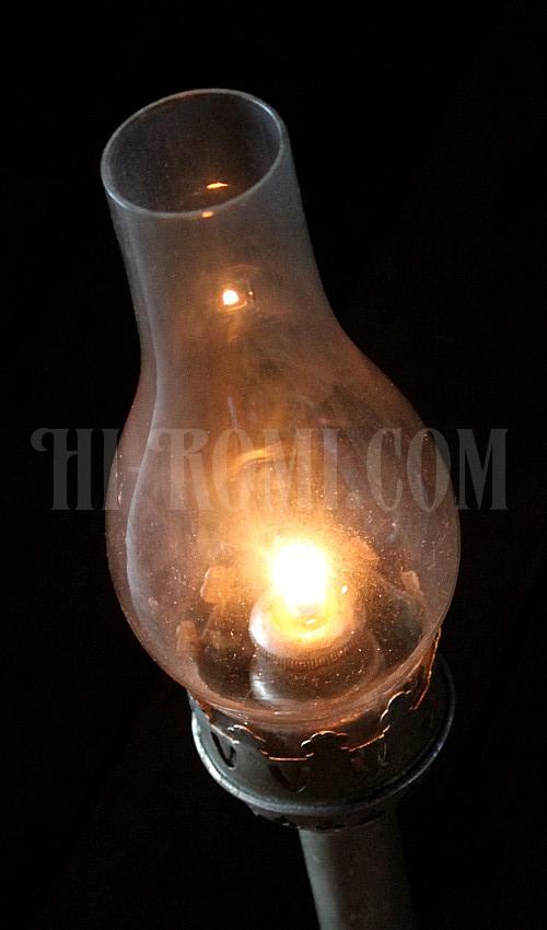 ヴィンテージのキャンドルスティックホルダー、ガラス火屋チムニー 20130402-2