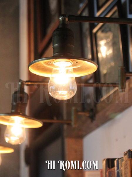 ヴィンテージ工業系角度調整&スウィングアーム付き真鍮ライトB/アンティーク照明