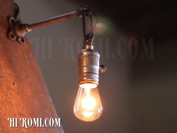 ヴィンテージ工業系ウォールランプ兼用ペンダントライトB/アンティーク照明ブラケット