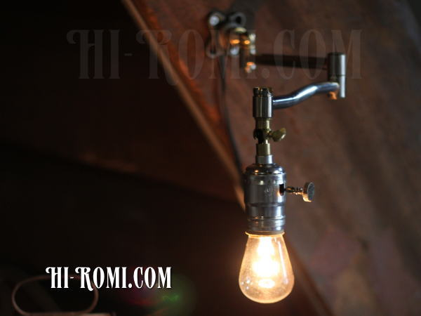 USAヴィンテージ工業系角度調整付きスウィングアーム壁掛ライト/アンティーク照明ランプ/WOL-13-4
