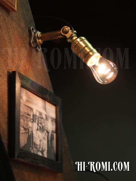 USAヴィンテージ工業系角度調整付壁掛ライトC/アンティークアトリエ照明/WOL-13-8