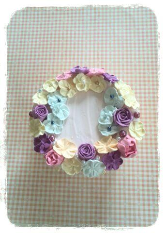 お花絞りのケーキBOX