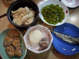 説分晩ご飯1