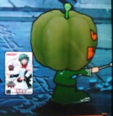 かぼちゃで決めポーズ