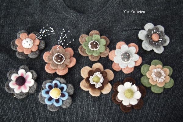 お花のコサージュ 全10種。