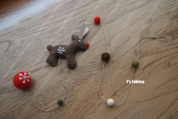 クリスマスのガーランドです。